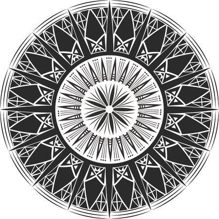 crystalline: Mandala tattoo. Crystalline form Illustration