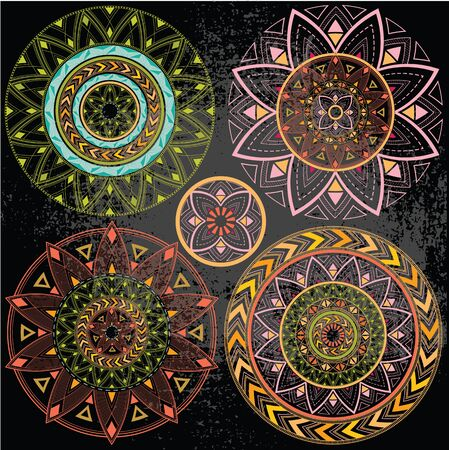 Geometric mandala in pastel colors Stock Photo