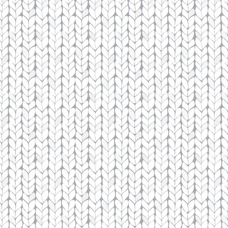 White knitted seamless texture. Illustration