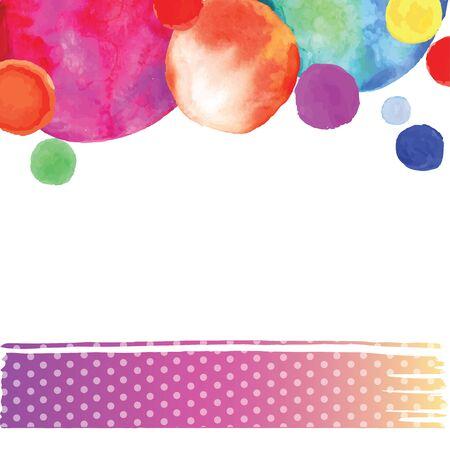 bright watercolor circle Illustration