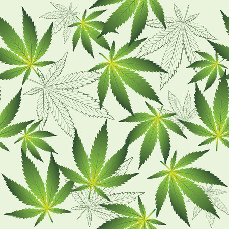 Texture with cannabis Illustration