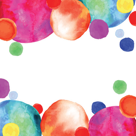 Multicolored orbs watercolor. Confetti.