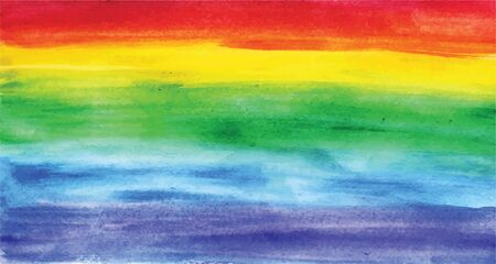 Rainbow background. Watercolor.