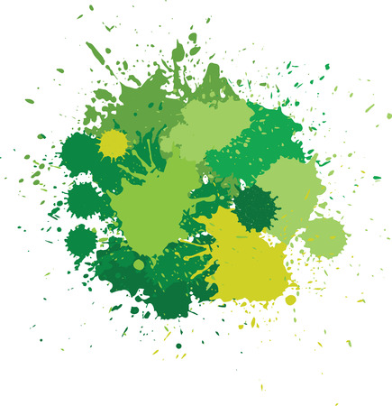 blots in green tones. Illustration