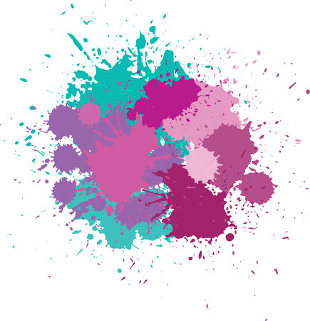 blots in bright colors.
