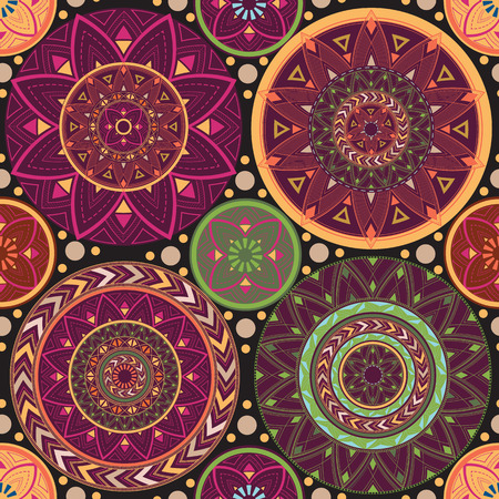 Texture with mandalas.