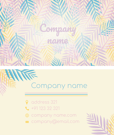 Business card in a tropical style.