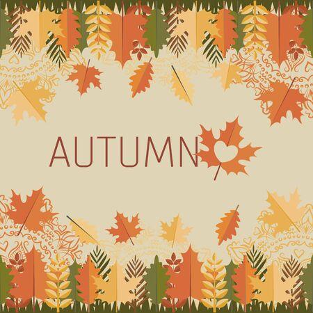 Autumn . Leaves and mandalas
