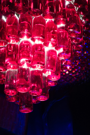 Wine cellar. Bottles with wine.