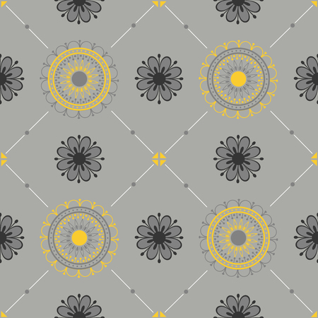 Seamless texture with a floral ornament.
