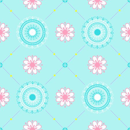 Texture with floral ornament. Illustration