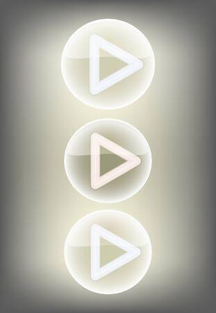 illustration player button Illustration