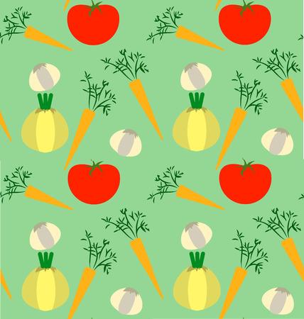Patrón transparente de verduras