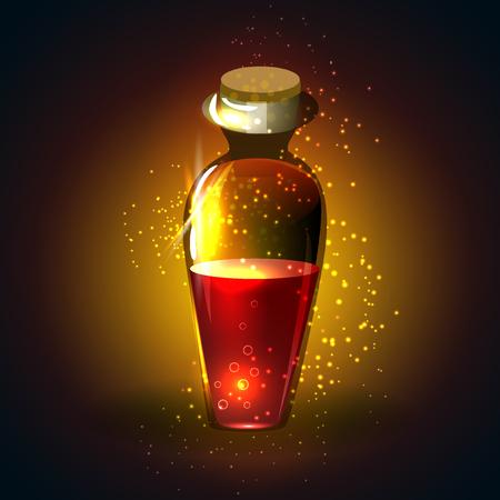 icon game magic bottle. Vector design for app user interface
