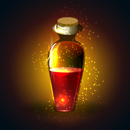 icon game magic bottle. Vector design for app user interface