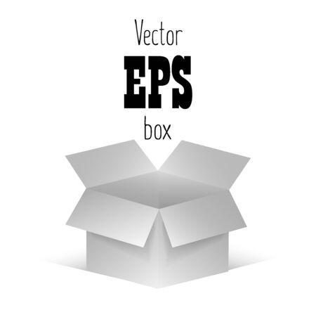 White open box on  background. Vector illustration