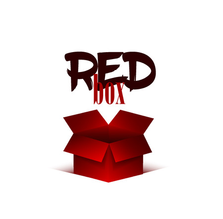 red 3d vector box.