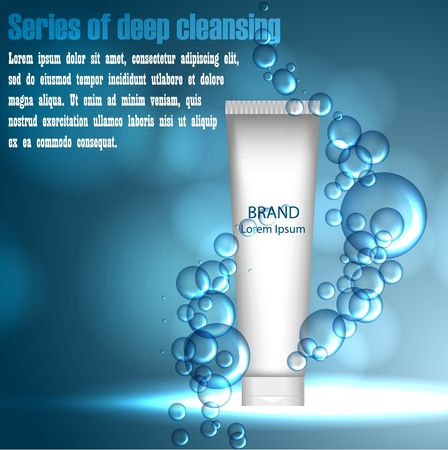 Series of deep cleansing. beauty illustration. Skin care design. Water. 3d .
