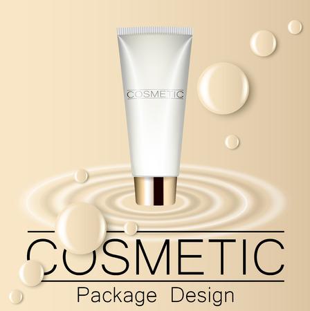 Concealer template design packaging of cosmetics