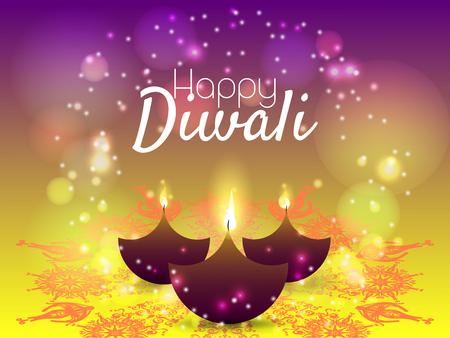 Beautiful greeting card for Hindu community festival Diwali  Happy Diwali festival background illustration  Diwali graphic design for Diwali festival celebration in India