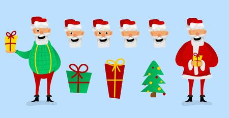 Santa Claus character creation set.