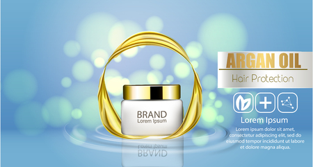 A realistic template cosmetic package vector illustration