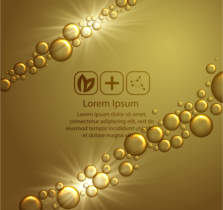 Beauty skin care design template over golden backdrop.