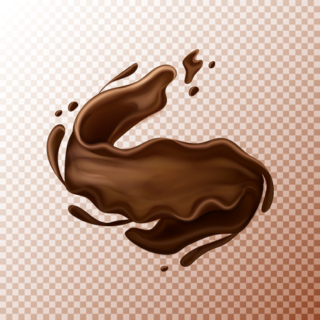 milk chocolate splash. Liquid or chocolate on transperent background.