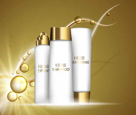 Foundation smear texture, close up tone cream on transparert background for cosmetic use in 3d vector illustration