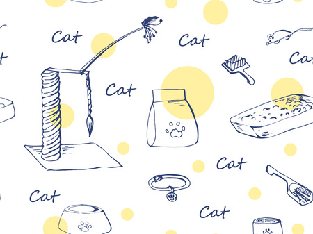 Pattern seemless cats objekt Illustration