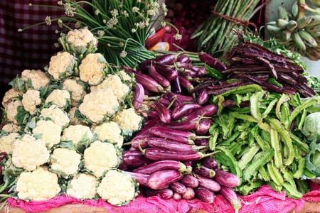 Various vegetables in the market Stock Photo