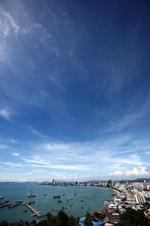Top view Pattaya. Thailland Stock Photo