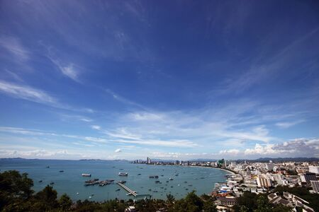 Pattaya city from observation point on the hill. Thailand