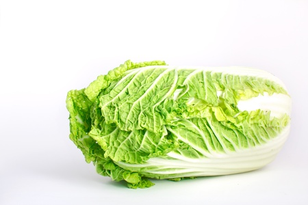 Juicy cabbage isolated on the white background Stock Photo