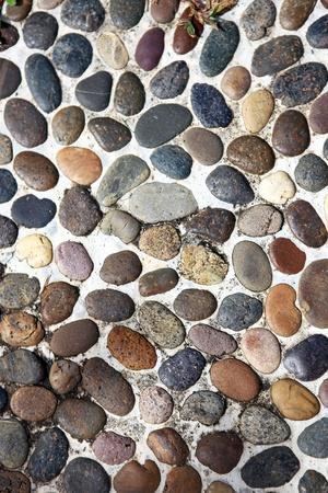 colorful texture of pebble, close up
