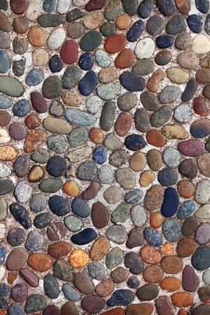 Cobblestones in a pavement walkway