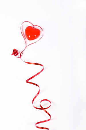 ribbon red with heart inside