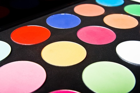 Make-up palette close-up Stock Photo