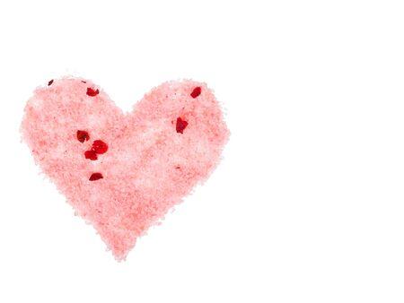 heart from bath salt. clipping path Stock Photo