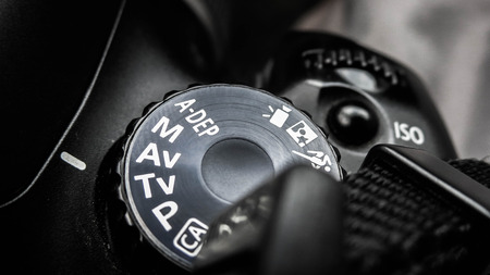 dial: Camera Mode Dial Stock Photo