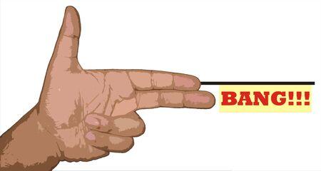 bang bang handgun symbol