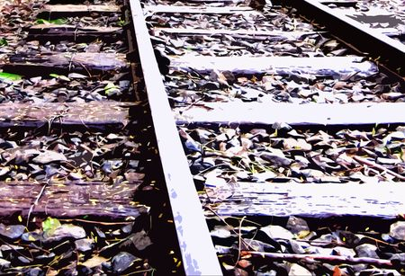 railways tracks Stock Photo