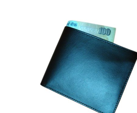 black color wallet Stock Photo