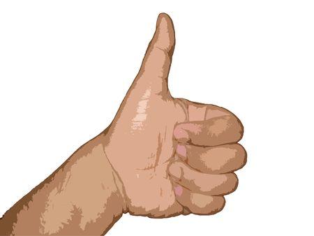 thumbs up symbol Stock Photo