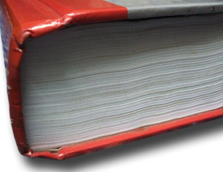 isolated closed red book