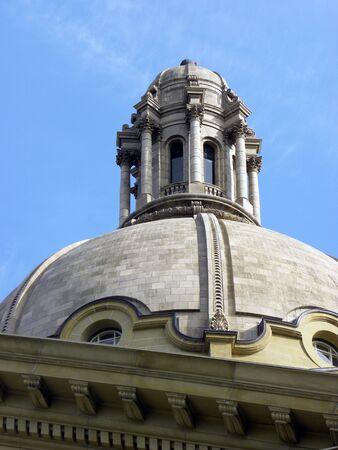 Dome close-up of Alberta Legislature building Stock Photo
