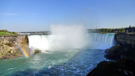 horseshoe falls: Horseshoe Falls in niagara Stock Photo