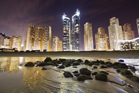 marina: Jumeirah beach residence, a prime waterfront location, upmarket apartments, spectacular Mediterranean and Arab architecture.