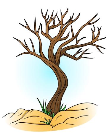 bleak: bald tree