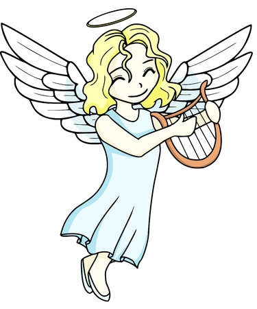 angel girl: little angel Illustration